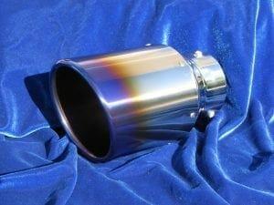Motordyne Premium Ti Blu Rolled Exhaust Tip