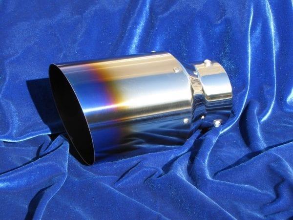 Motordyne Premium Ti Blu Straight Exhaust Tip