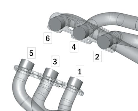 Figure 3: Headers Closeup Cylinder Labels