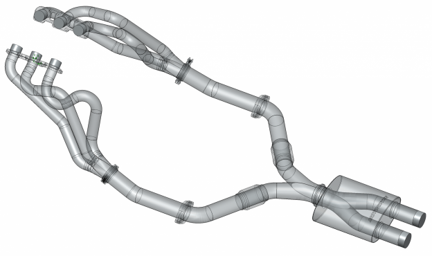 Figure 2: Motordyne Long Tube Headers with Motordyne Shockwave Exhaust