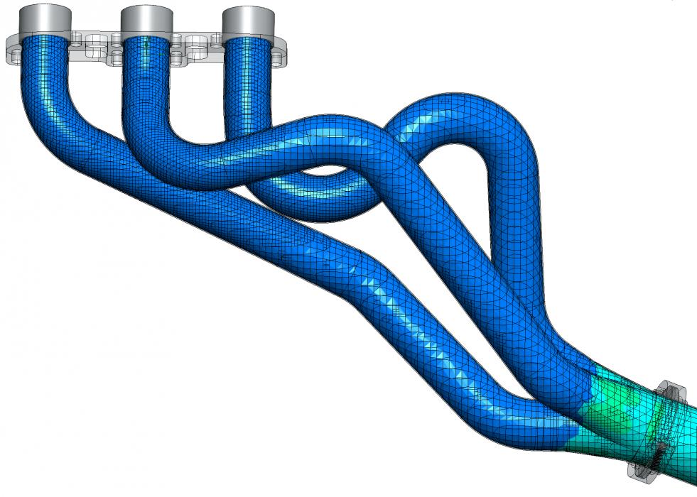 Figure 12: Motordyne Long Tube Headers Mesh
