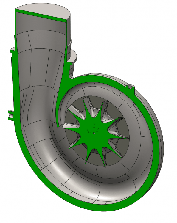 Figure 2: Turbine Model Section View